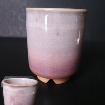 Another kintsugi opportunity - Tenpozan Hagi Ware meoto yunomi set - Asian