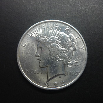 1922-peace silver dollar - US Coins