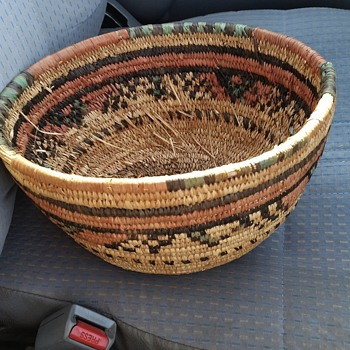 Unknown Indian Basket Native American or African Tribal