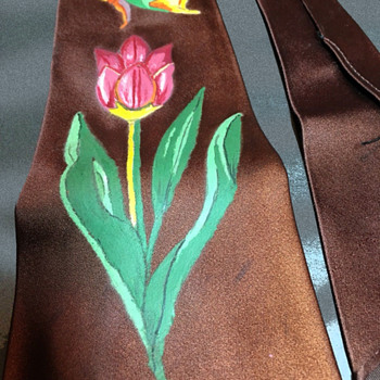 Vintage 1960s Hippie Era California Creation Hand Painted Tie. - Accessories