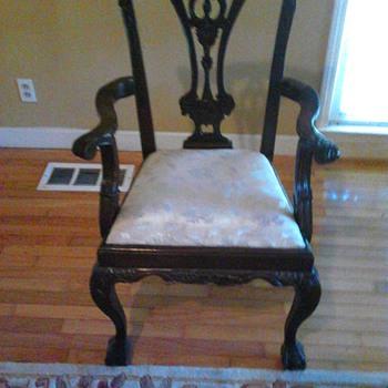 My Vintage Musical Chair w/ ball claw  feet