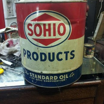 5 gallon sohio can - Petroliana