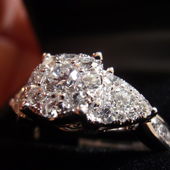 "2012 Macy's 1.5 ct diamond ring, she  says ""I do"" - Fine Jewelry"