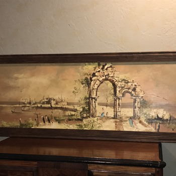 1962 D. Lupin Oil Painting