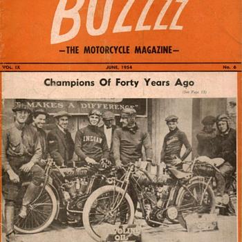 1954 - BUZZZZ Motorcycle Magazine - Paper
