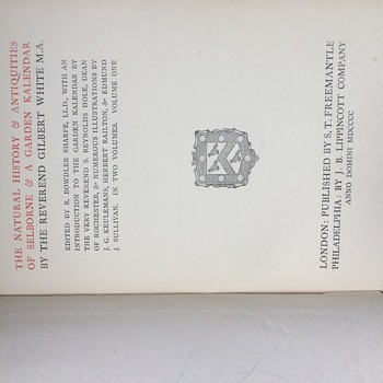 "Gilbert White ""Natural History of Selborne"""
