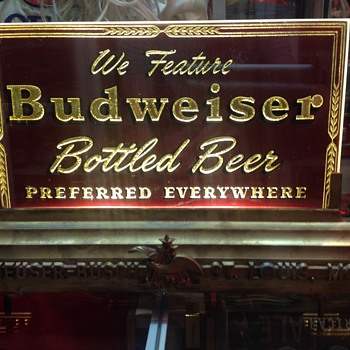 1940's Budweiser sign - Breweriana