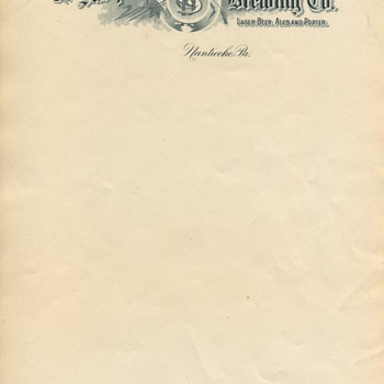 Susquehanna Brewing Company Stationary - Breweriana