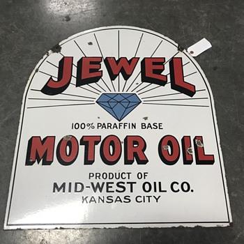 Jewel motor oil sign  - Petroliana