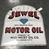 Jewel motor oil sign