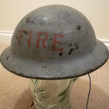 WW11 Civilian Fire brigade plasfort (plastic fibre) helmet. - Military and Wartime