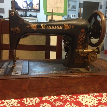 """mansion"" labeled sewing machine."