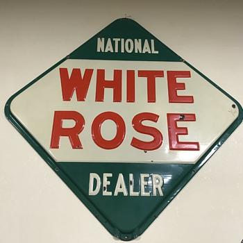 White Rose gasoline sign  - Petroliana