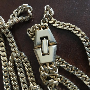Double layered gold chain - Costume Jewelry