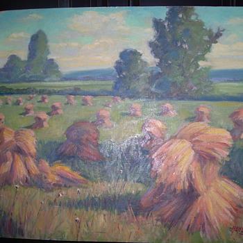 FLOYD HENLINE OIL PAINTING - Fine Art