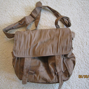 WW1 WWI USA Linen Canvas Satchel Work Bag w/Contents - Military and Wartime