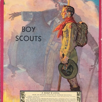Saturday Evening Scout Post Boy Scout Notepad Norman Rockwell Art Cover - Sporting Goods