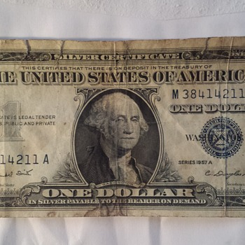 1957 One Dollar Bill