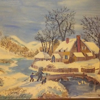 Oil painting signed (S.West 74)  - Fine Art