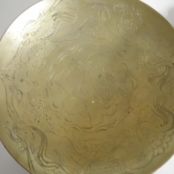 Brass Chinesse Bowl with Dragons