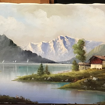 Landscape oil painting  - Fine Art