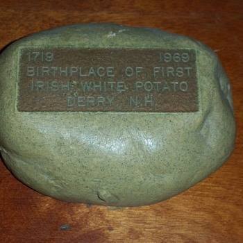 Souvenir of First Potato Grown in America - Advertising
