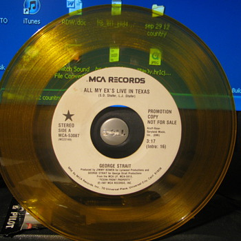George Strait Promo. 45's - Records