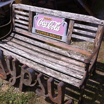 Coca-Cola early 1930s bench