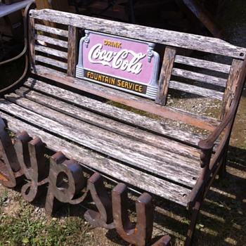 Coca-Cola early 1930s bench - Coca-Cola