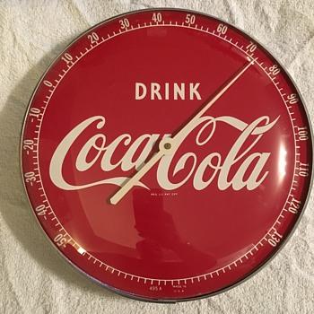 1940's Coca-Cola Round Thermometer - Coca-Cola