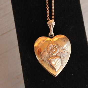Chased Repoussé Sweet Heart Photo Locket - Fine Jewelry
