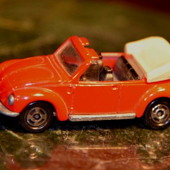 Red Volkswagen Convertible Beetle - Classic Cars
