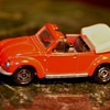 Red Volkswagen Convertible Beetle