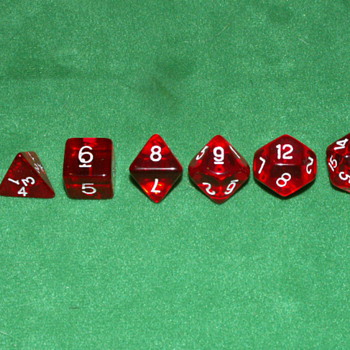 1980's Dungeons And Dragons Dice ~ #'s: 4, 6, 8, 9, 12, 20