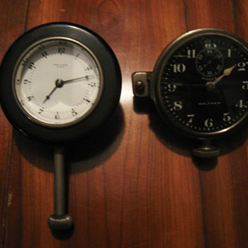 Waltham size 37 car clocks - Clocks