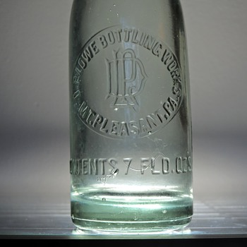 D.P. Lowe Bottling Works Soda Bottle Mount Pleasant, Pennsylvania Embossed Antique D.O.C. Dominick O. Cunningham Glass - Bottles