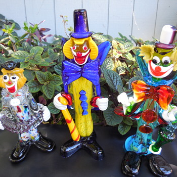 Murano Art Glass Clowns - Advertising