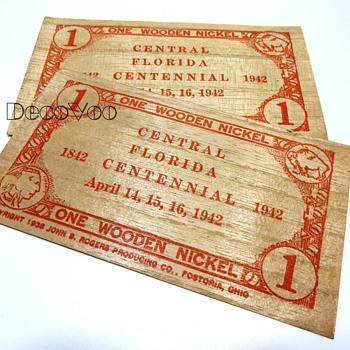Wooden Nickel 1942 - Advertising