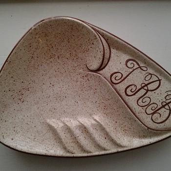Signed monogram ashtray from 1962