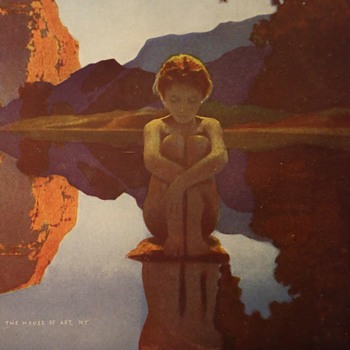 Maxfield Parrish's 'Evening' - original House of Art, NY Print - Fine Art