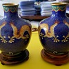 2 Small Asian Vases with cool dragons