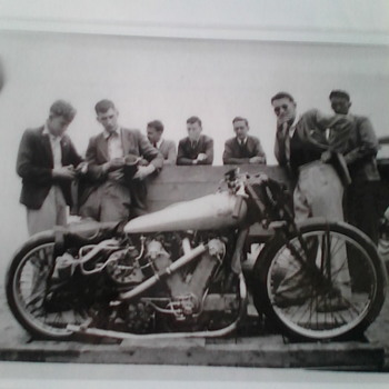 Monster ajs motorcycle 1940s.
