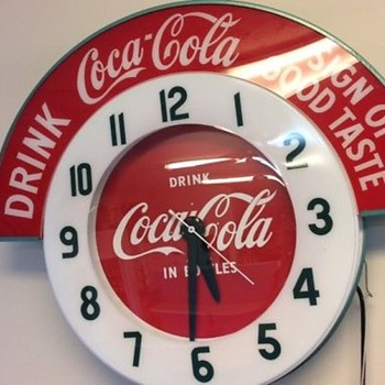 Coca Cola clock custom made replica.  - Coca-Cola