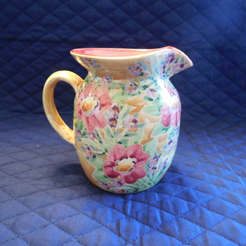 Sandy Kreyer Kiln House Pottery Floral Pitcher - Pottery