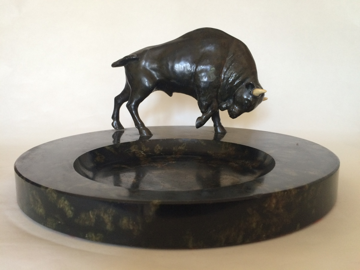 Art Deco Bison On A Marble Base Collectors Weekly