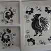 Rooster plate divided-states Grazia Deruta Italy