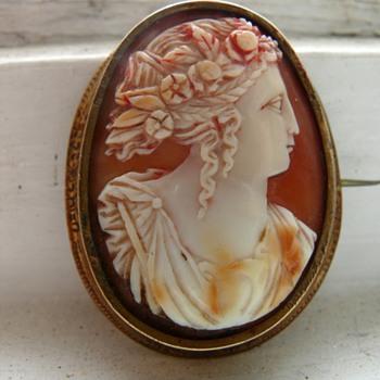 shell cameo brooch - Fine Jewelry