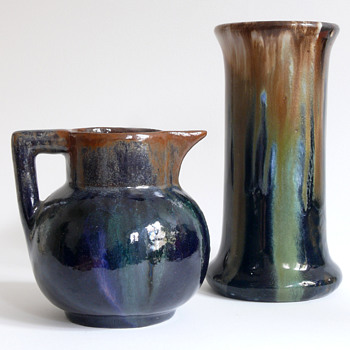 two art nouveau jugendstil pottery pieces - Art Nouveau