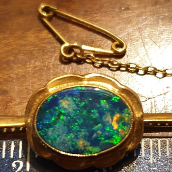 Inherited tie/scarf pin, could be black opal?  - Accessories