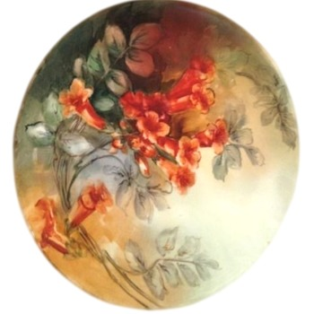 Vintage Haviland Hand Painted, Signed Porcelain Cabinet Plate - China and Dinnerware